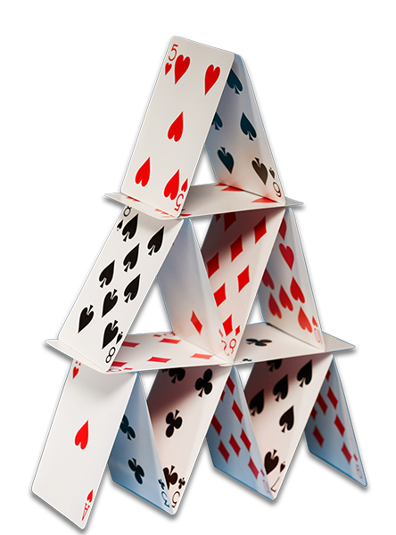 Stacking Cards Into Pyramid